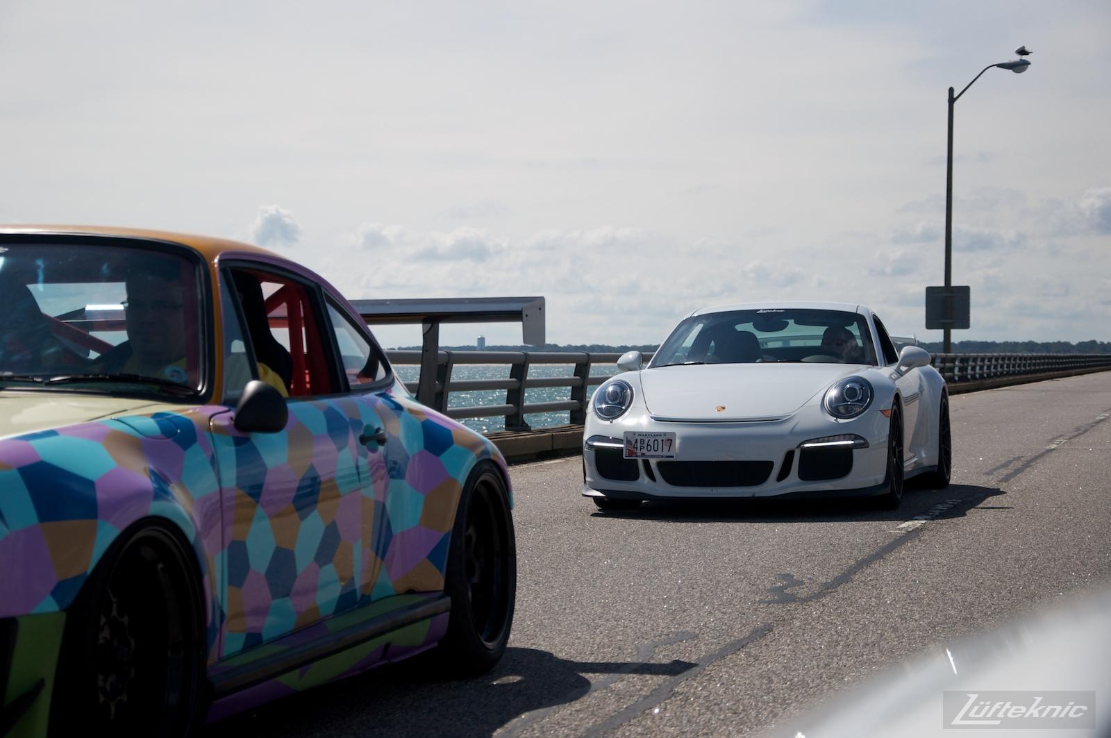 Lüfteknic Porsche 991 GT3 and projectstuka on the chesapeake bay bridge tunnel