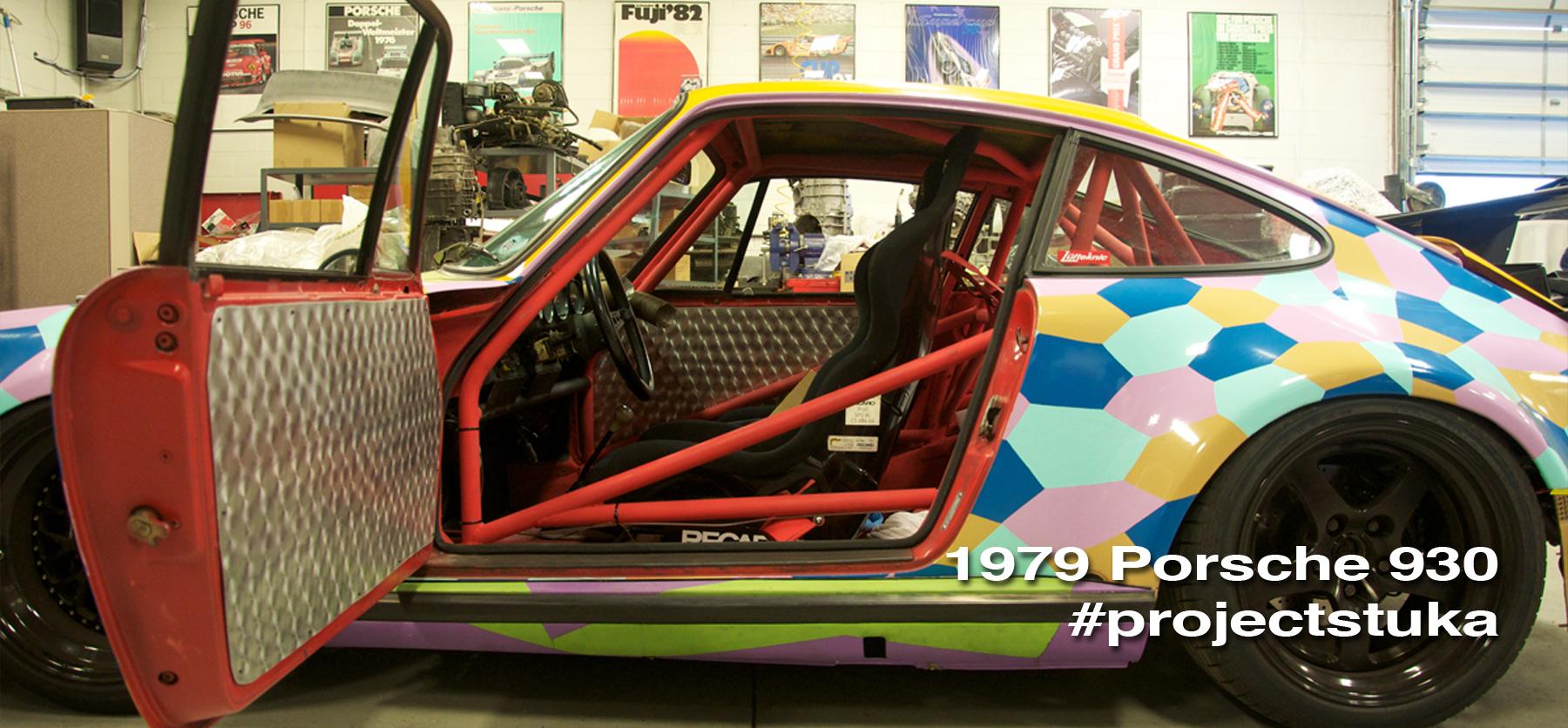 Projectstuka header image showing the car with an open door.