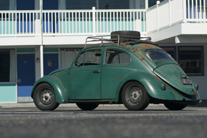 Green 1960 rag top beetle.