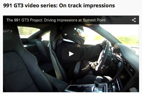 991 Gt3 driving impressions on track