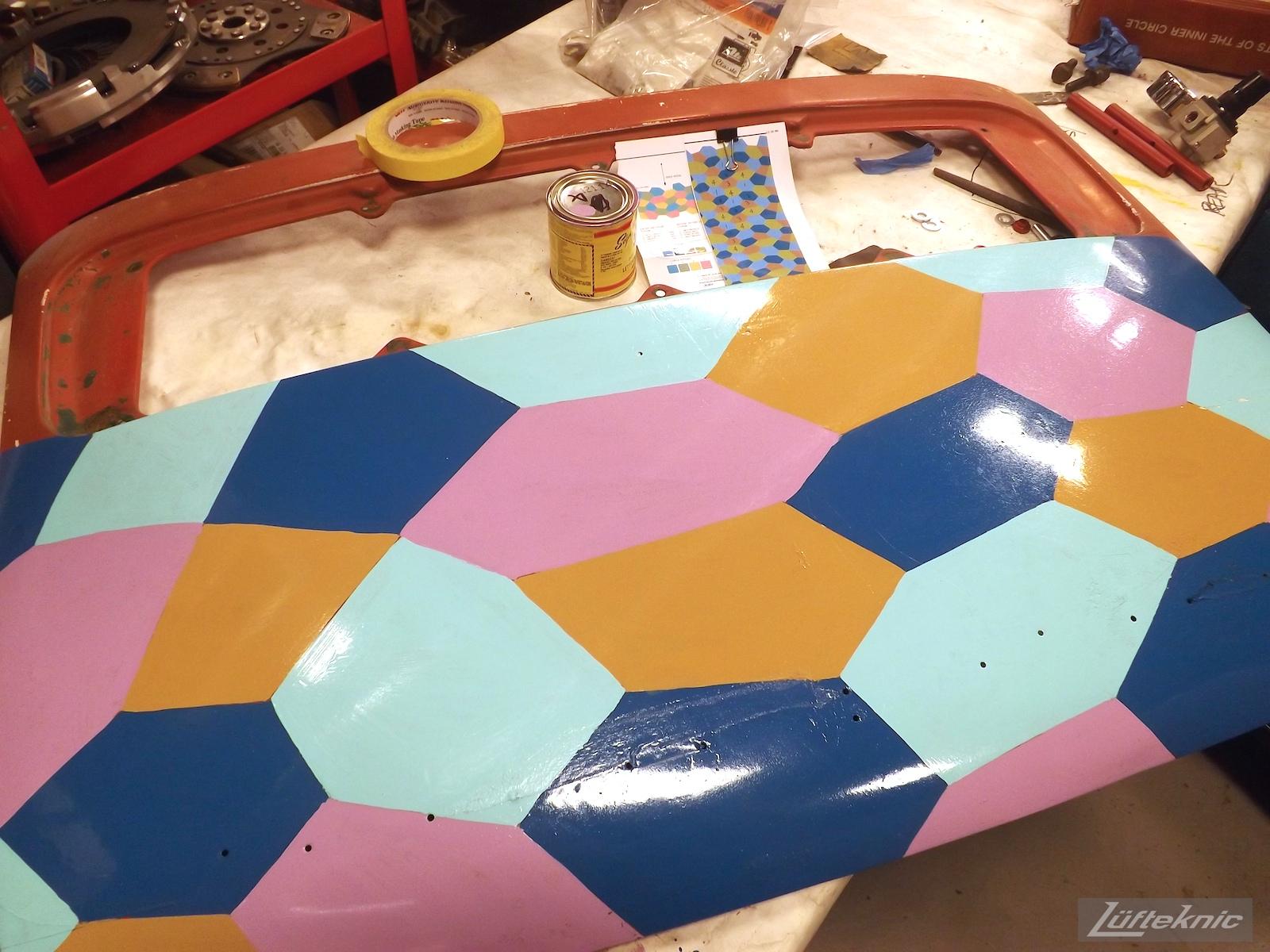 Lozenge camo test paint
