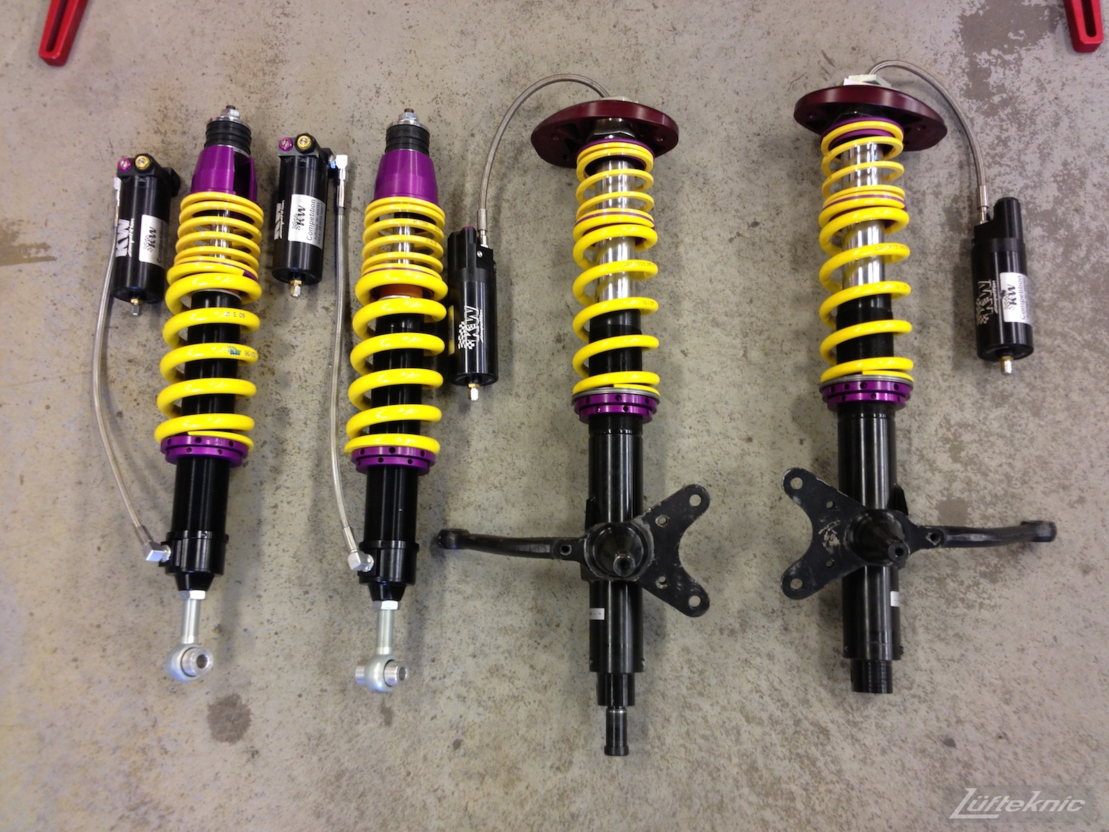 KW Competition coilovers for Porsche 930 Turbo projectstuka