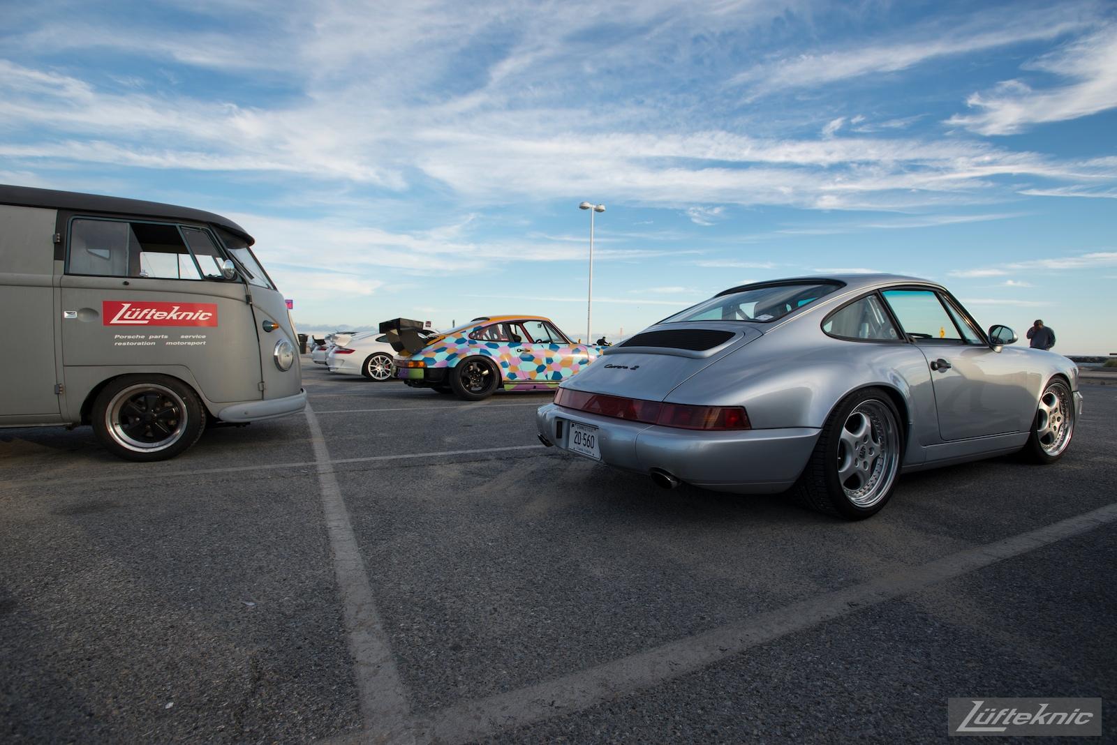 A Porsche 964 visits the Lüfteknic #projectstuka Porsche 930 Turbo