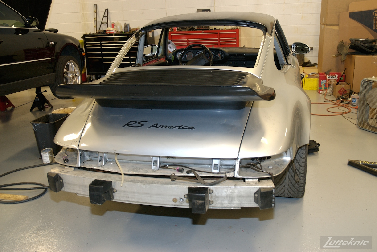 Panels fitted but still no glass on the 964 RS America project