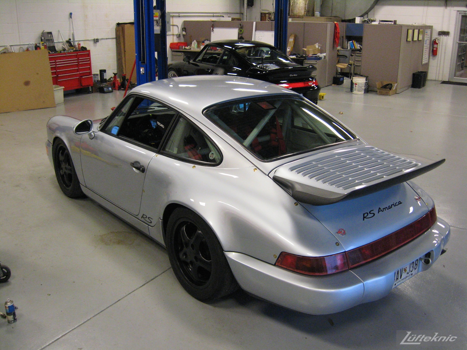 The completed 964 RS America project sitting in the Lüfteknic shop.