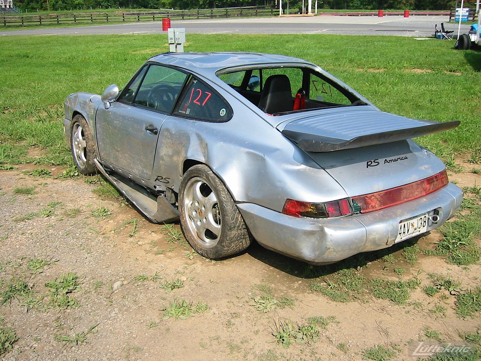 Freshly wrecked Porsche 964 RS America
