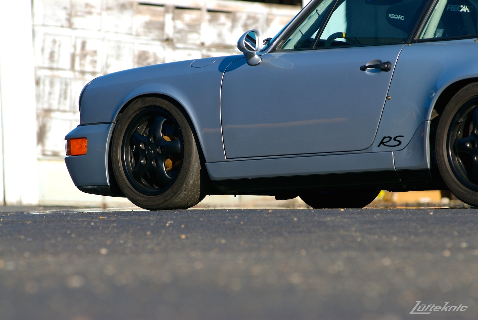 The front portion of the RS America shot from down low.