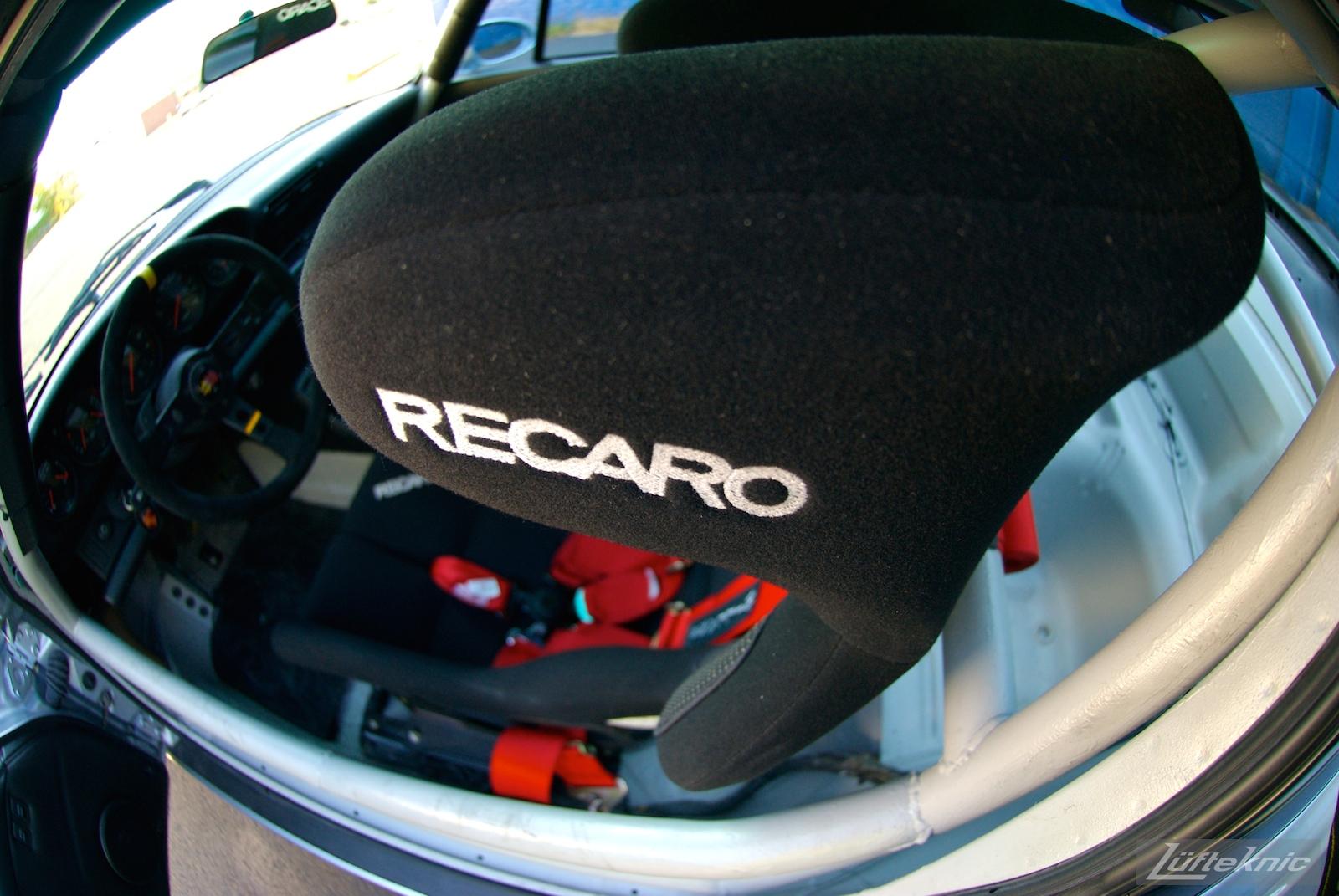 Track prepped Porsche 964 RS America Recaro seat.