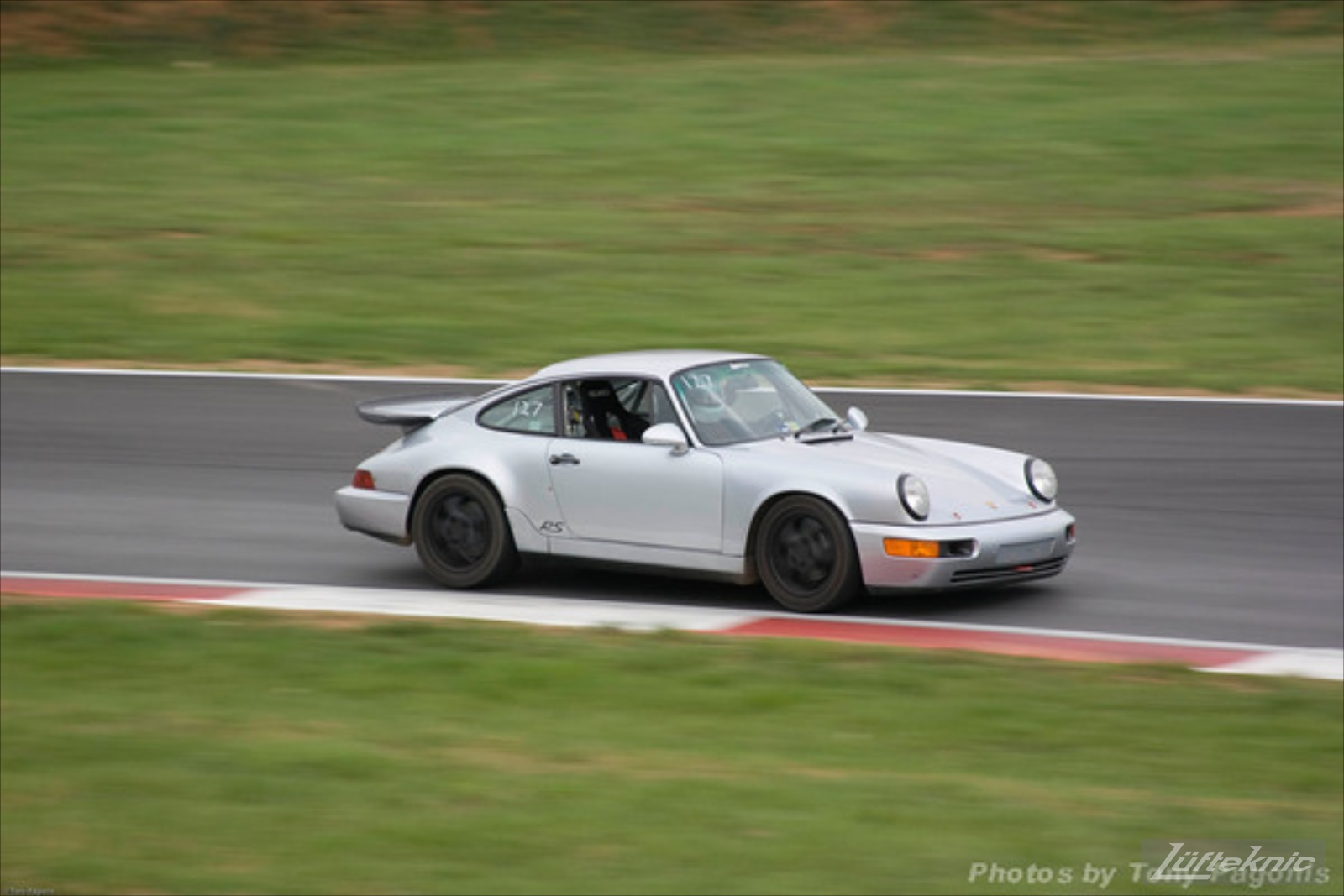 Track prepped Porsche 964 RS America at Summit Point.