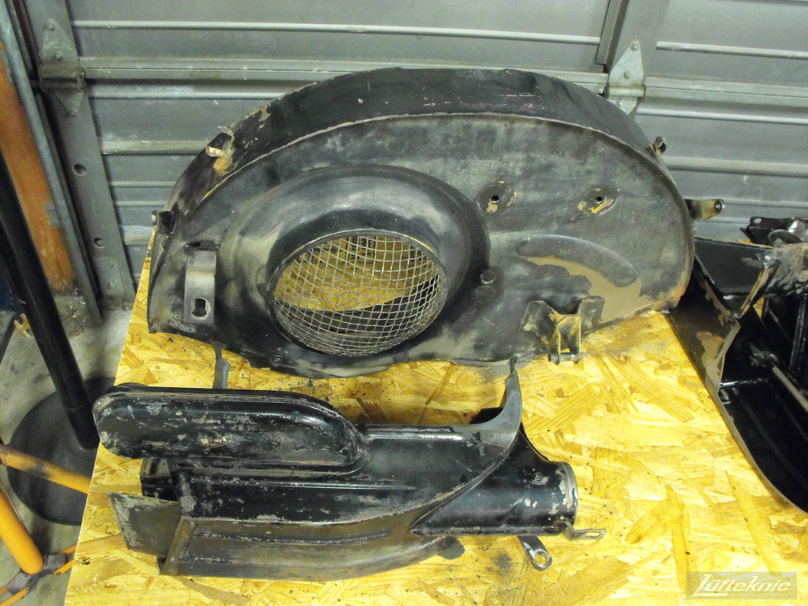 Fan shroud for a 1961 Porsche 356B Roadster restoration.