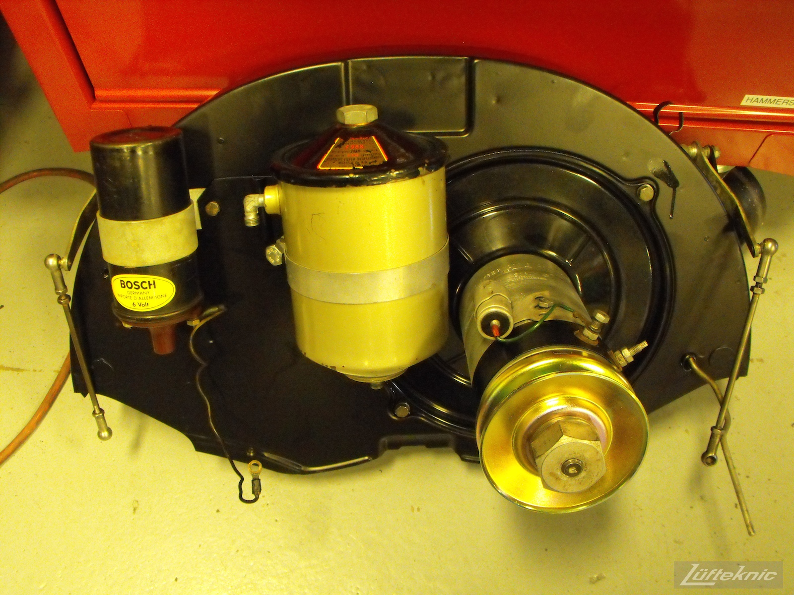 Assembled fan shroud for a 1961 Porsche 356B Roadster restoration.