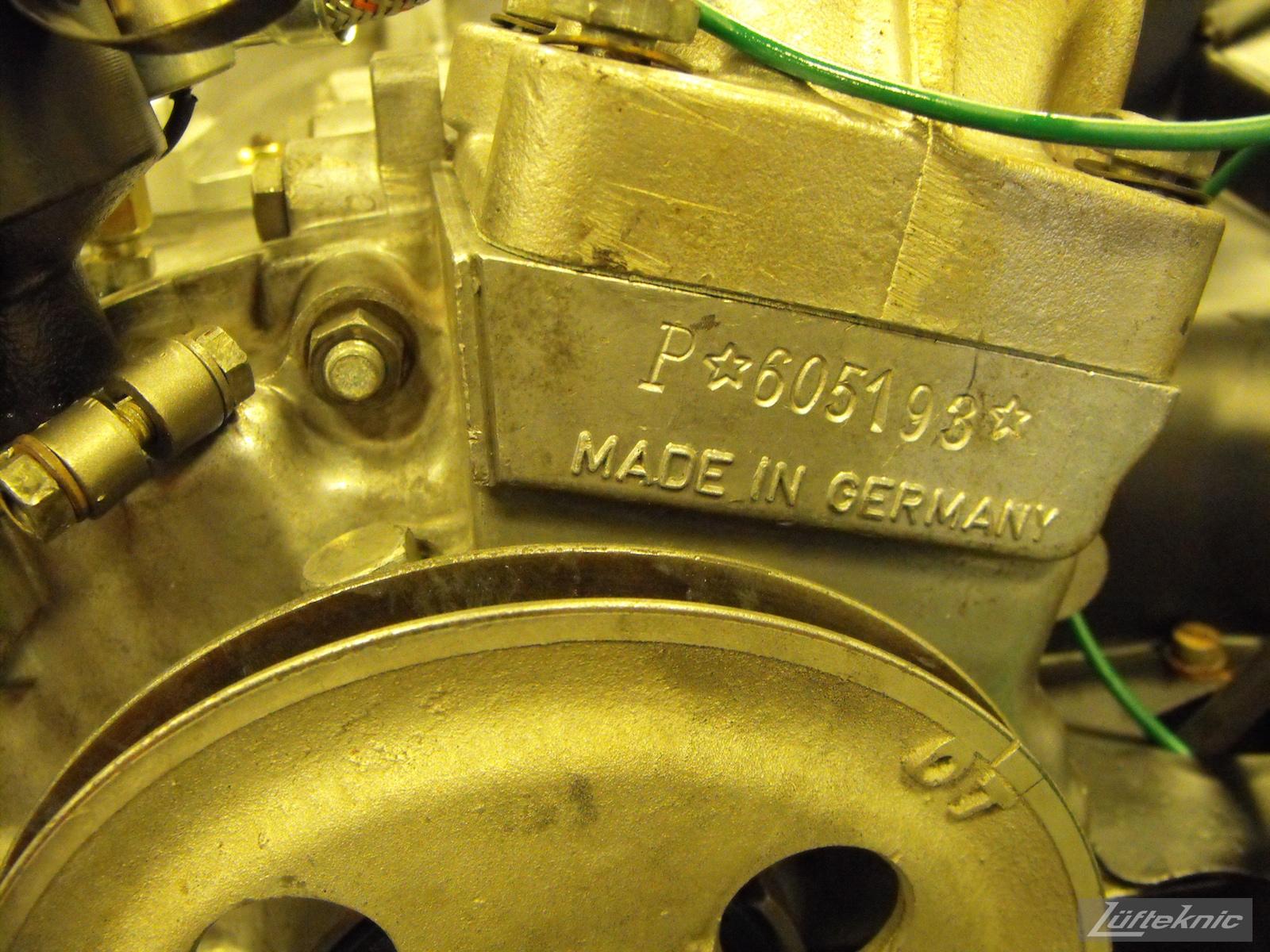 Crank case number for a 1961 Porsche 356B Roadster restoration.