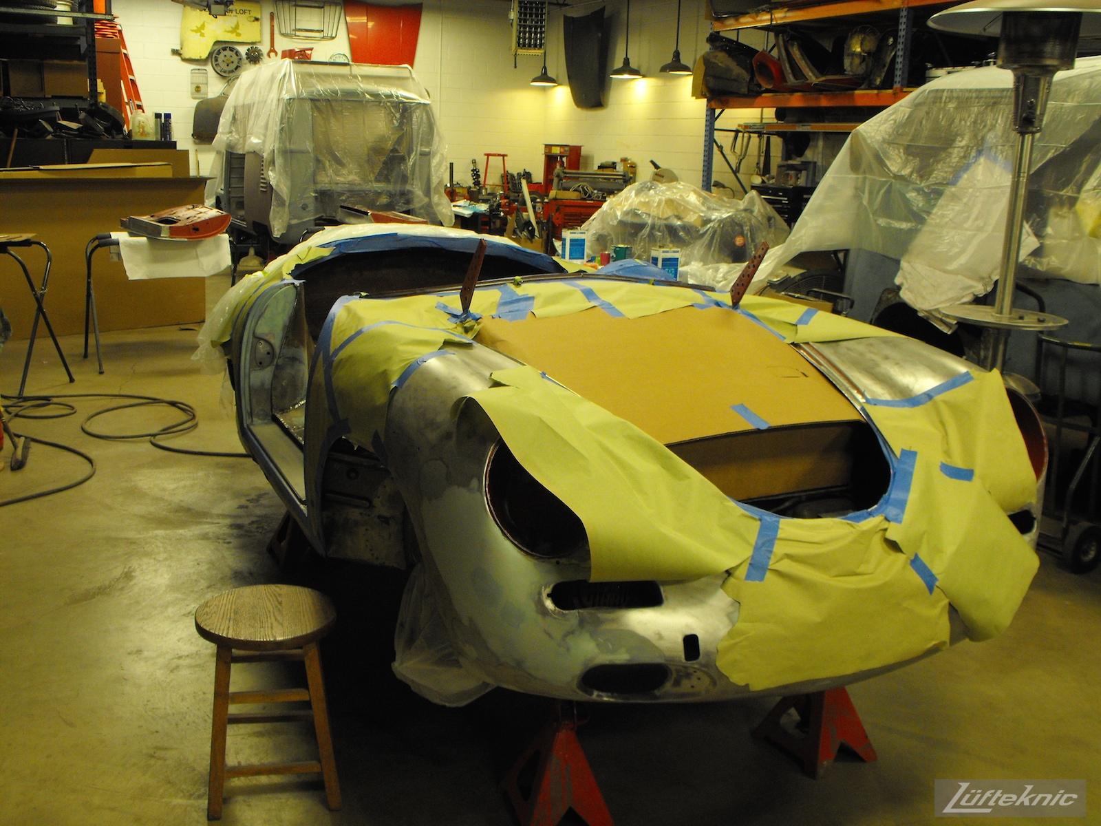 1961 Porsche 356B Roadster restoration.