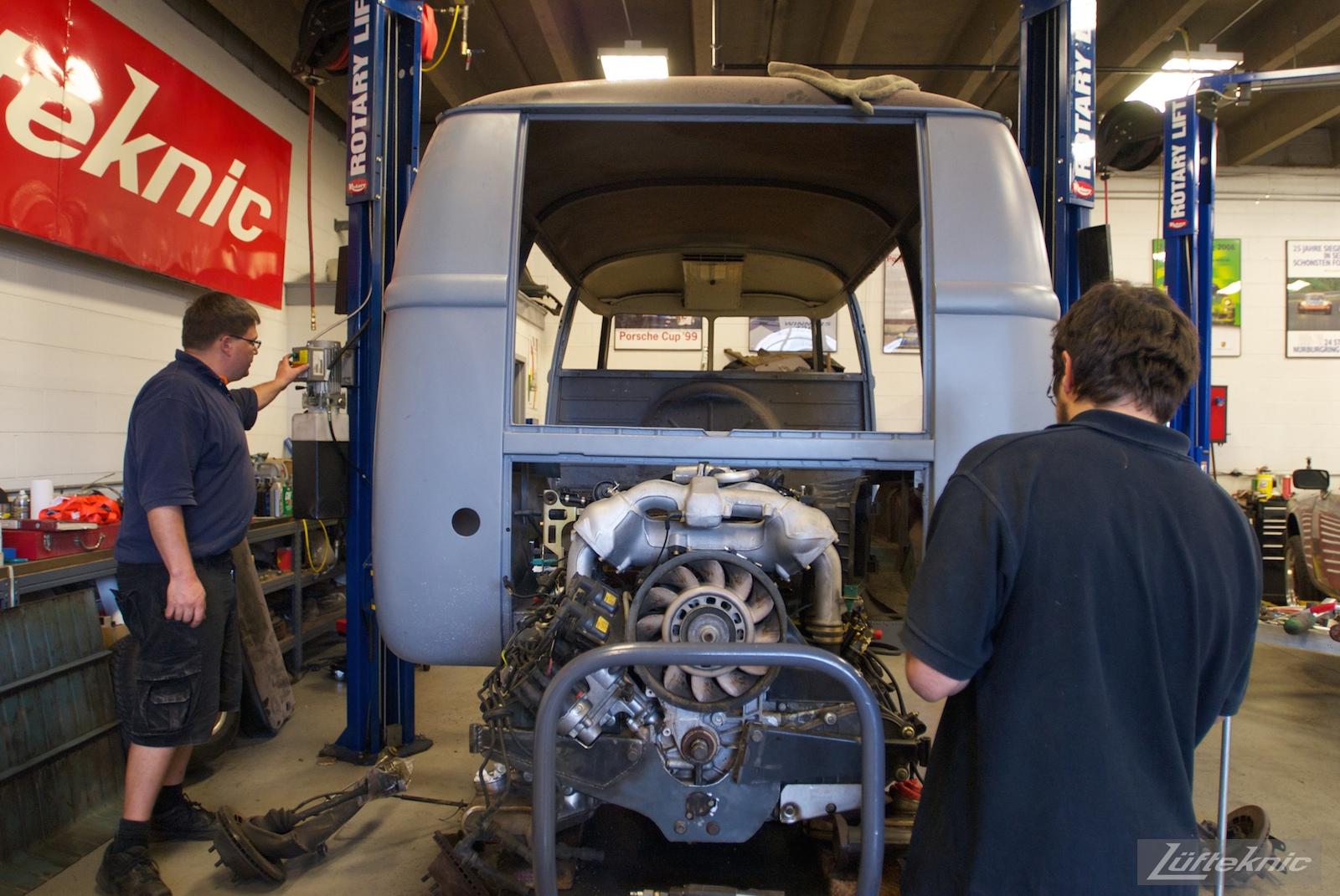 1956 Volkswagen double panel Transporter Porsche Bus fabrication.