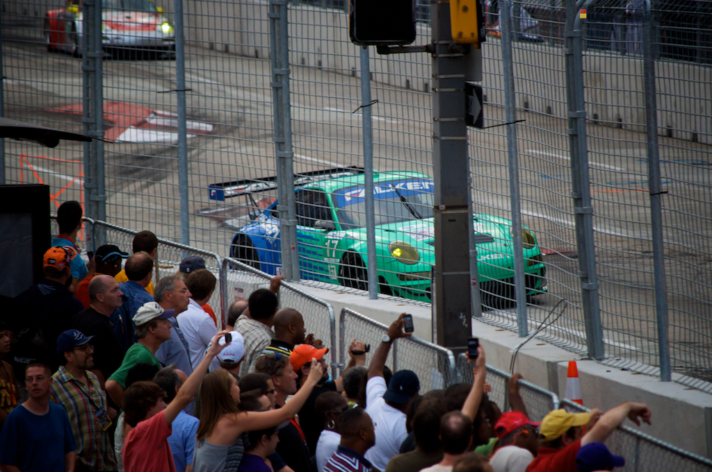The iconic teal and blue Falken Tire Porsche 911 RSR at Baltimore.