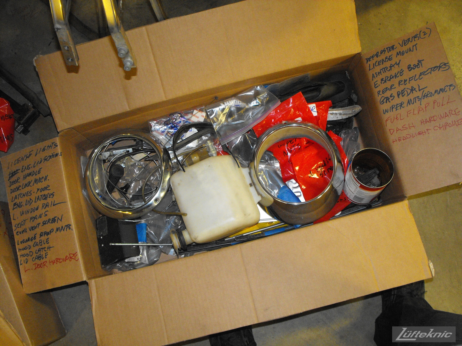 Parts going into storage