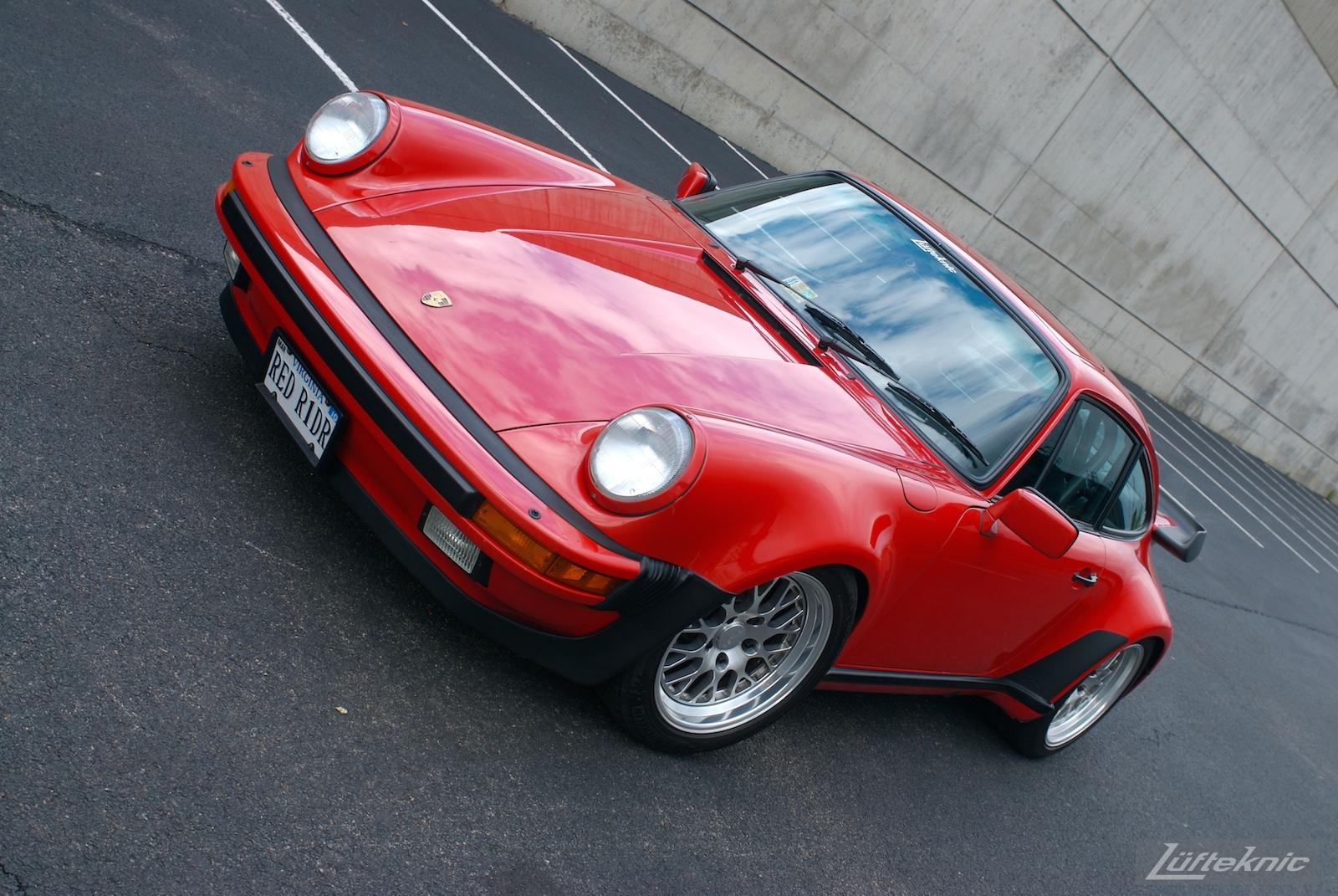 Red Porsche 930 Turbo.