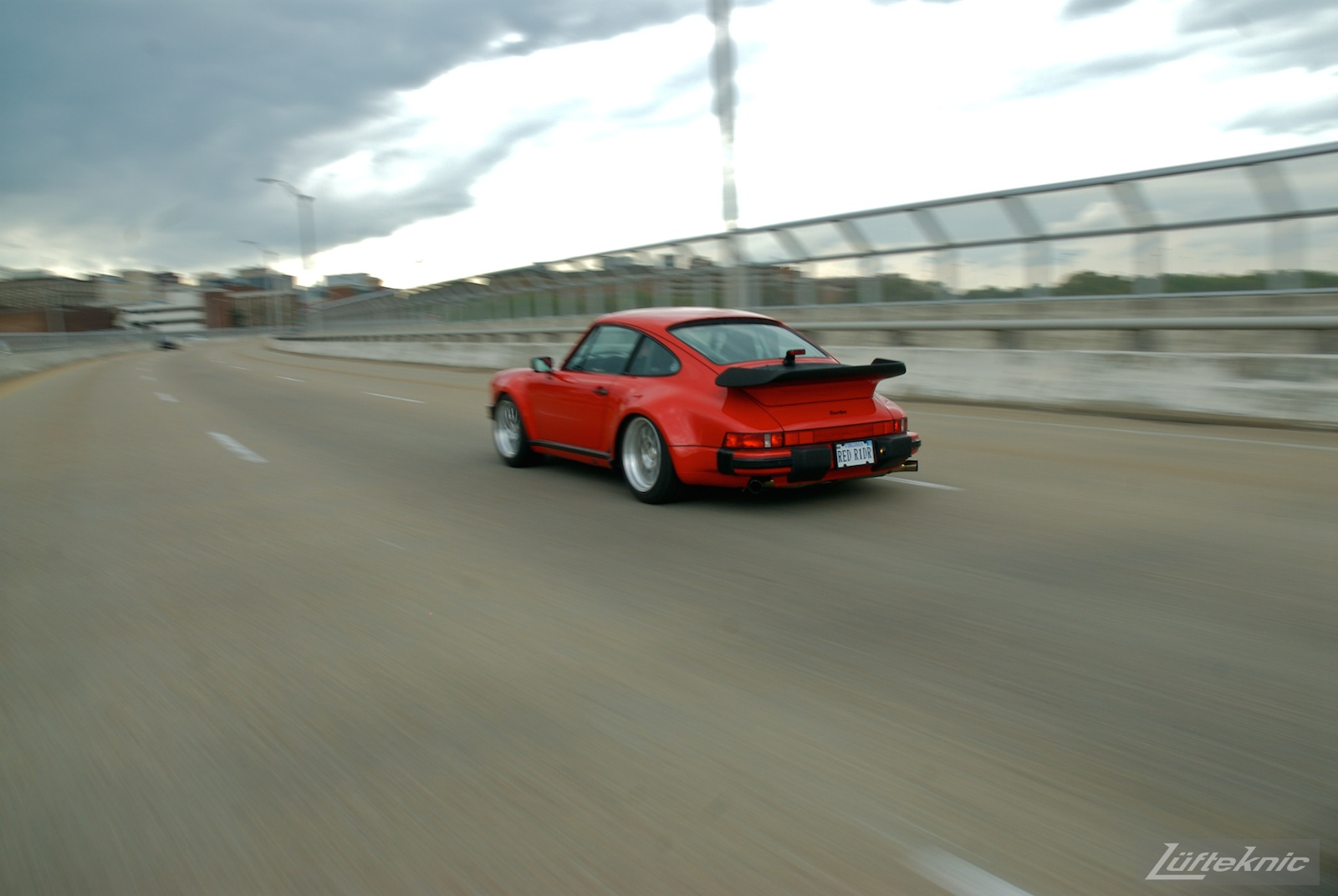 Red Porsche 930 Turbo.