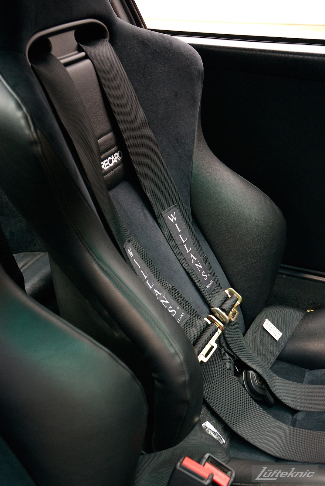 Recaro seat with Willans harness.
