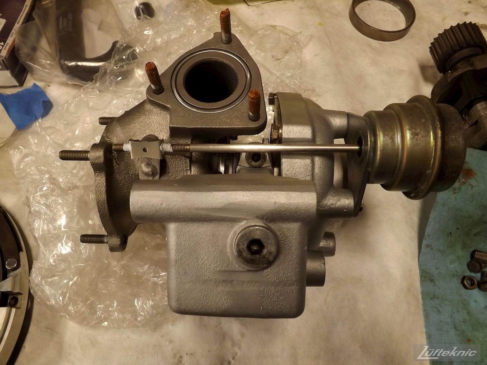 Hybrid Turbocharger for a 993 Turbo rebuild.
