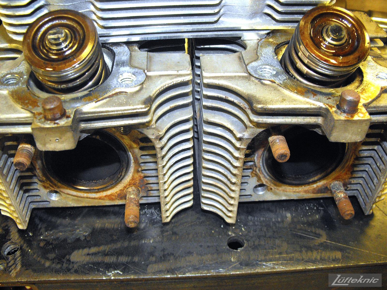 A 993 Turbo head prior to rebuilding.