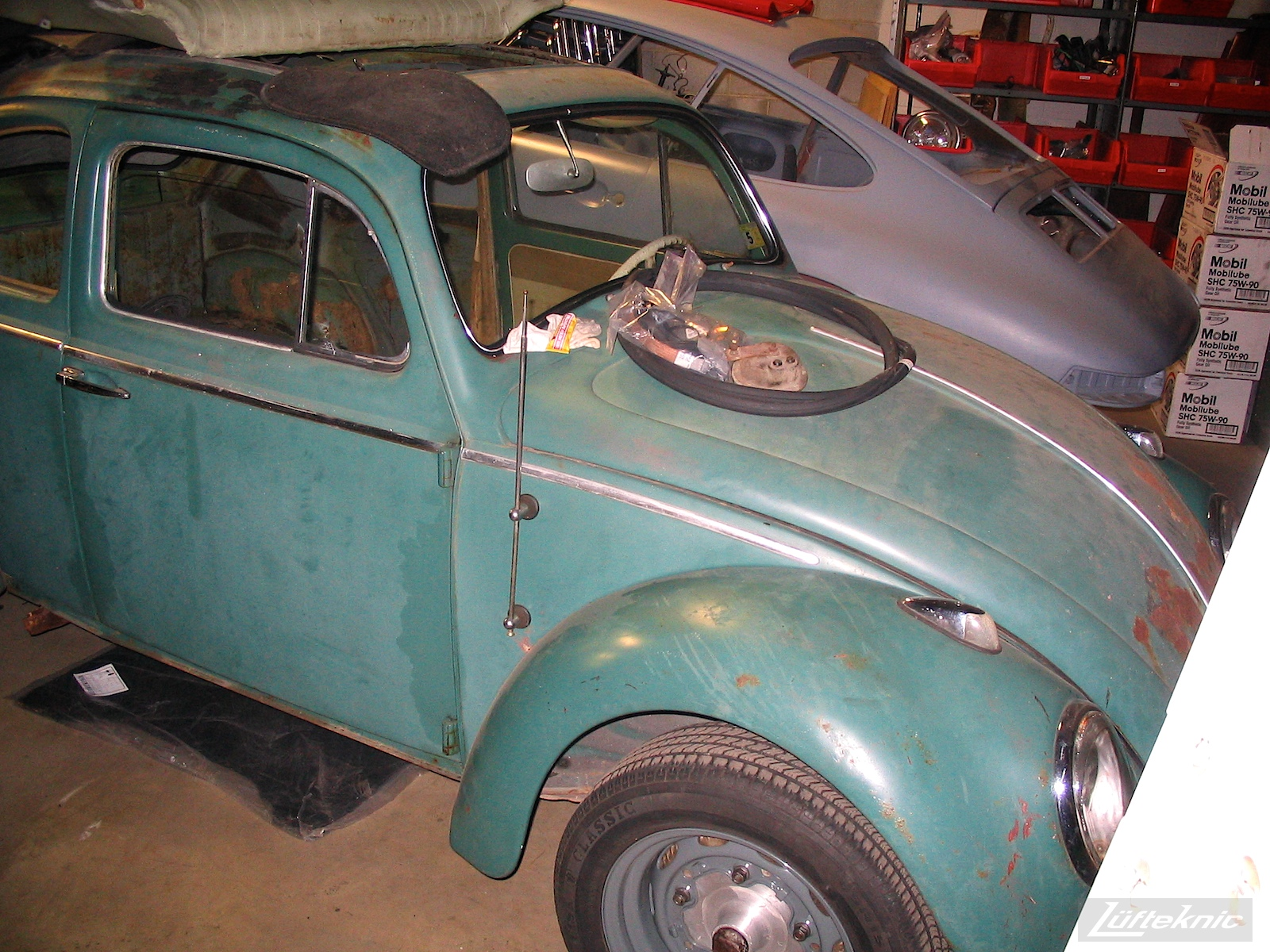 All original 1960 Beetle with a Porsche 356 engine and brakes.