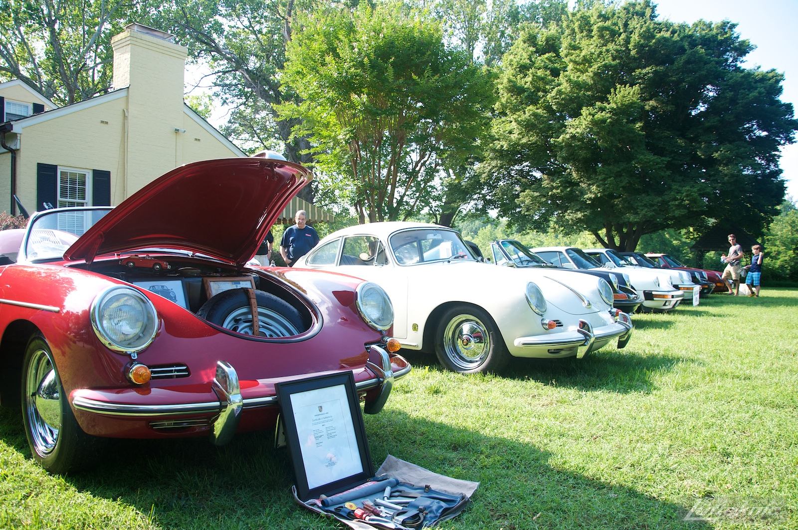 Porsche 356s at the Richmond Porsche Meet.