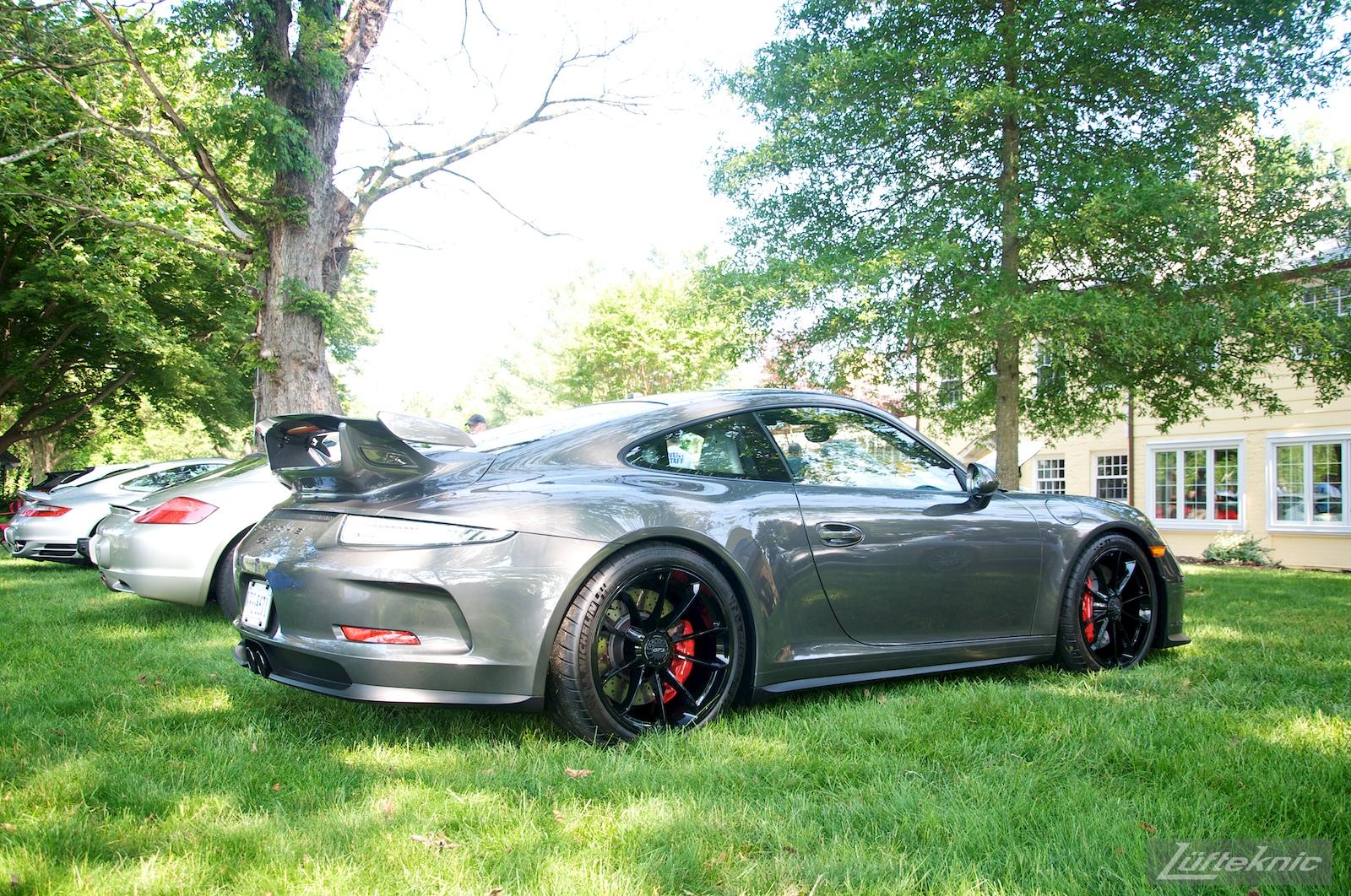 A gray 991 GT3 at the Richmond Porsche Meet.
