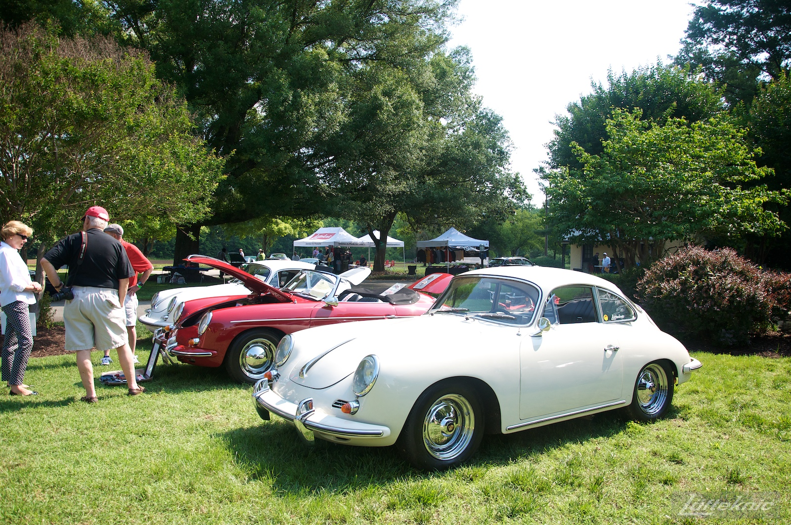 White 356SC at the Richmond Porsche Meet.