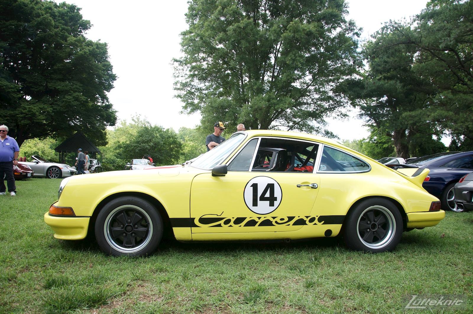 Yellow Carrera at the Richmond Porsche Meet.