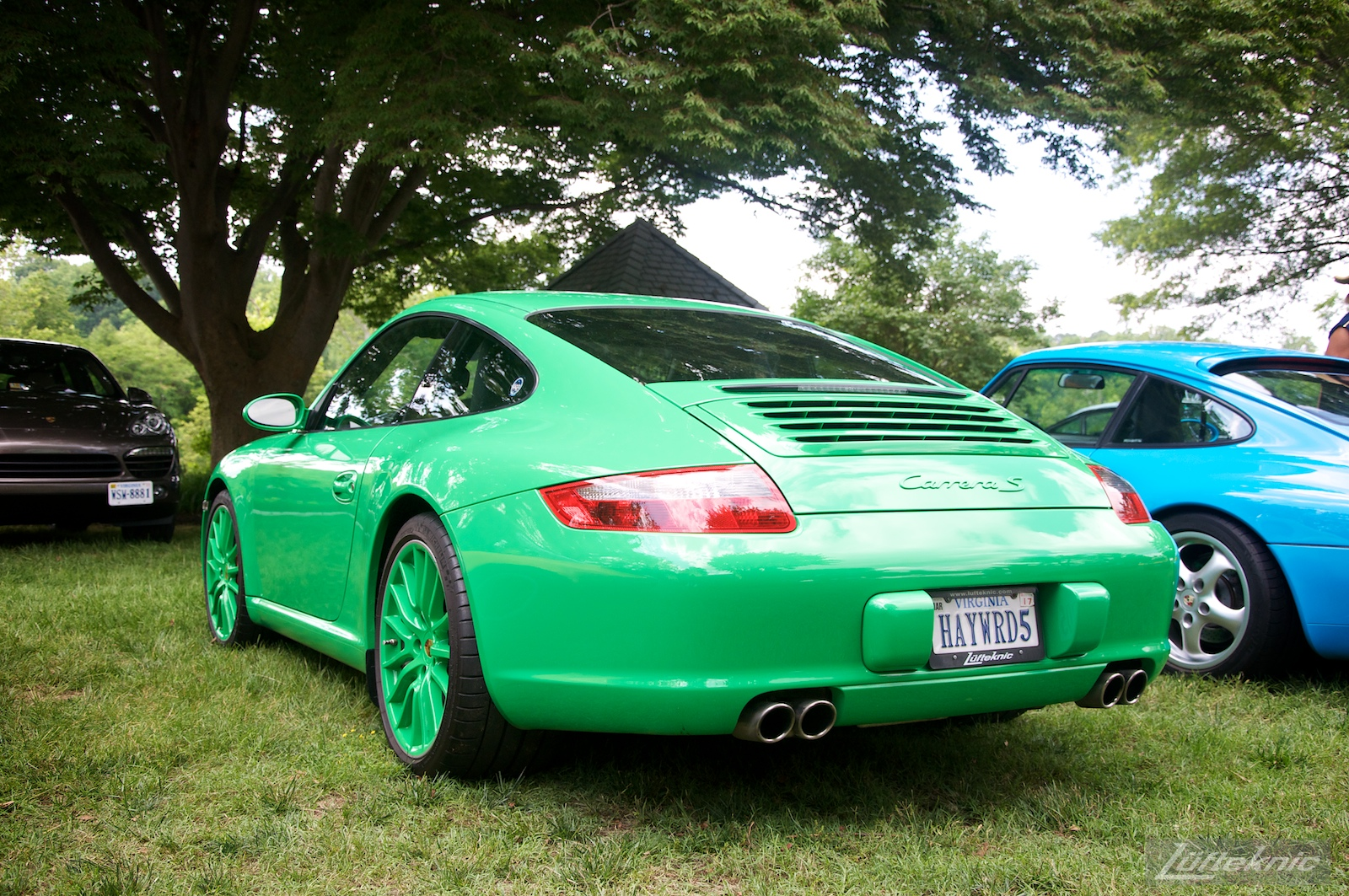 Signal Green 997 PTS at the Richmond Porsche Meet.