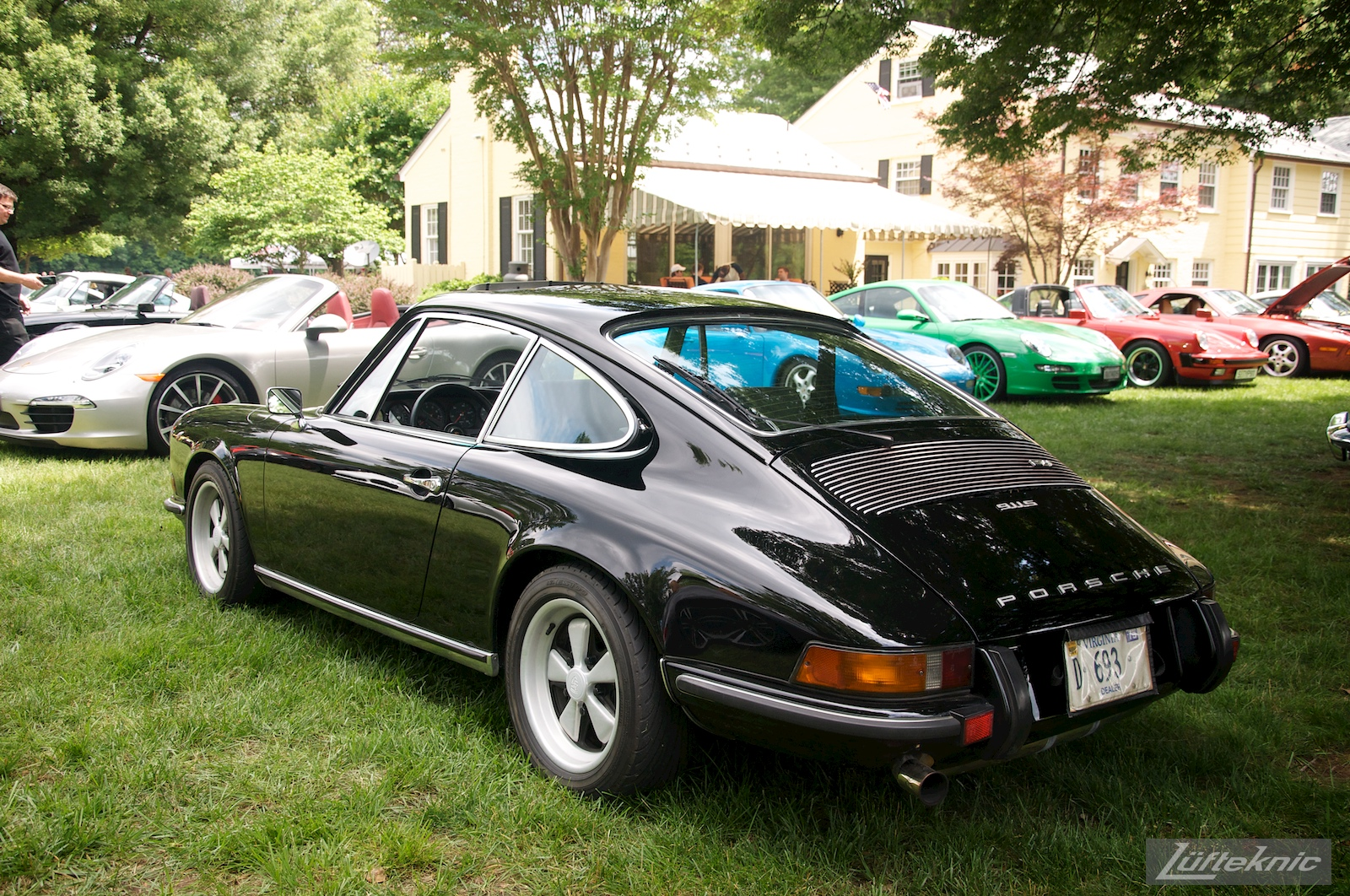 Black 911S at the Richmond Porsche Meet.