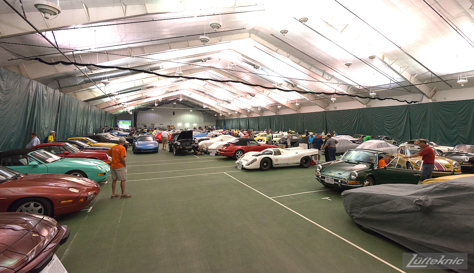Porsche Parade concourse preparation.