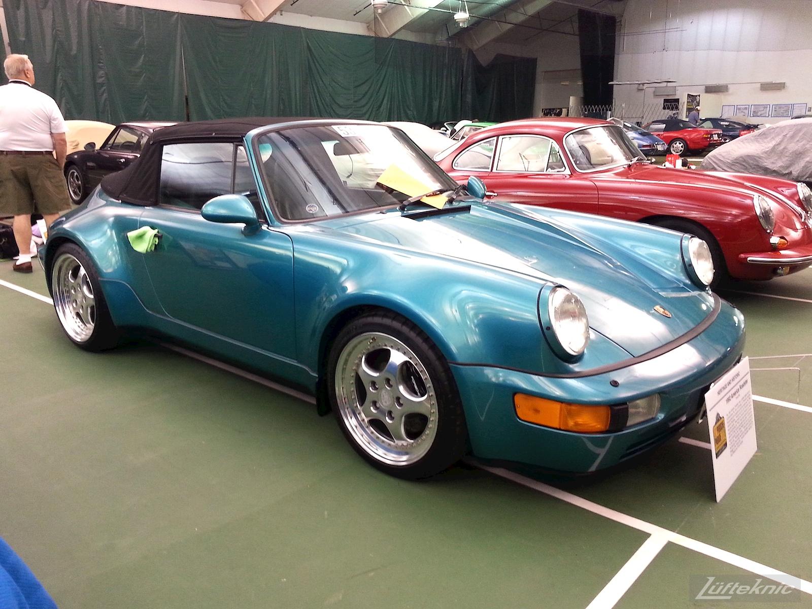 Blue Porsche American Roadster