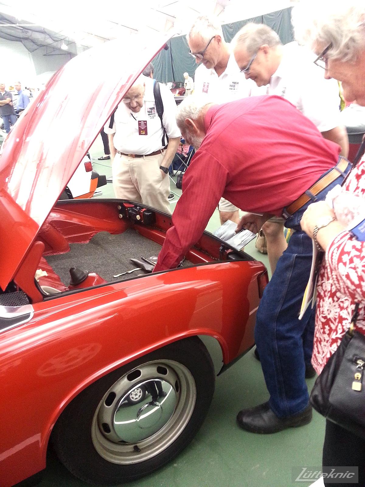 Original unrestored Red Porsche 914