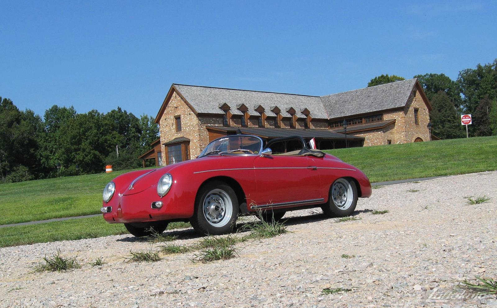 Red 1957 Porsche 356A Speedster