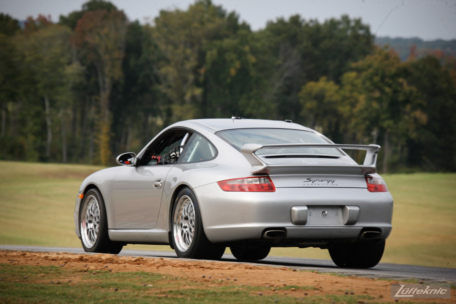 Synergy Racing modified Porsche 911 track car on track.