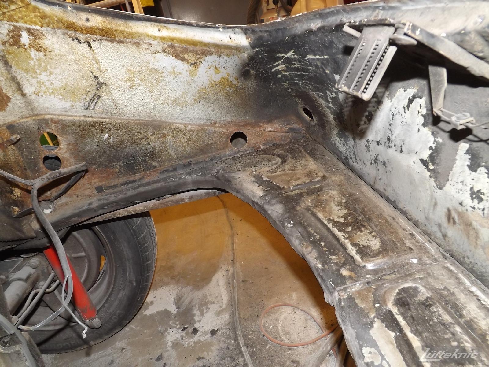 Engine compartment details on a 1964 Porsche 356SC restoration.