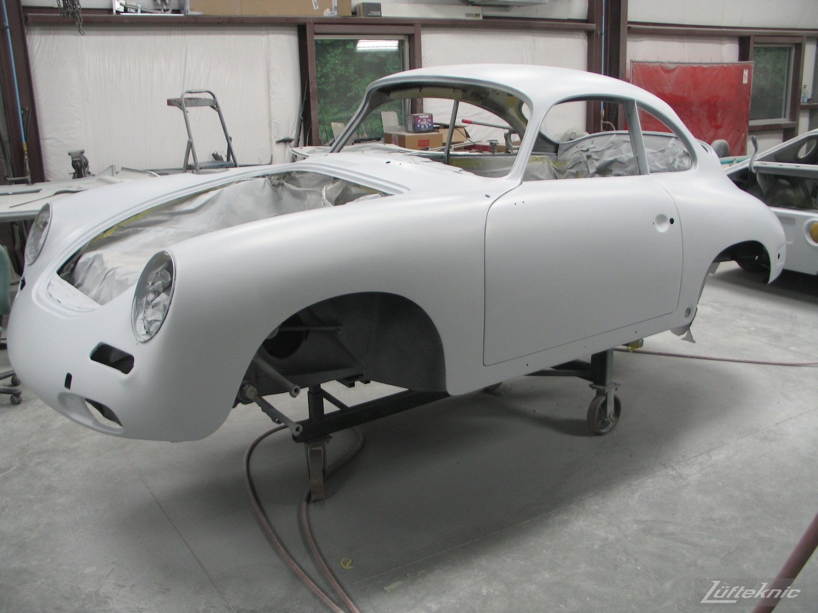 White 1964 Porsche 356SC restoration