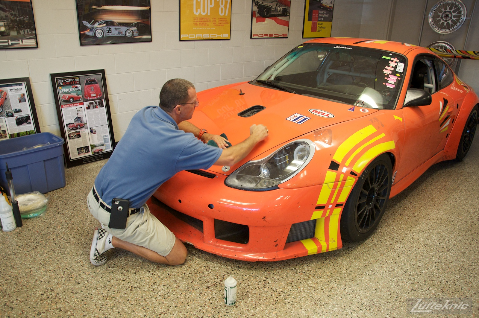 ZIP Racing Hazardous Sports Porsche 996 GT3 RS paint restoration