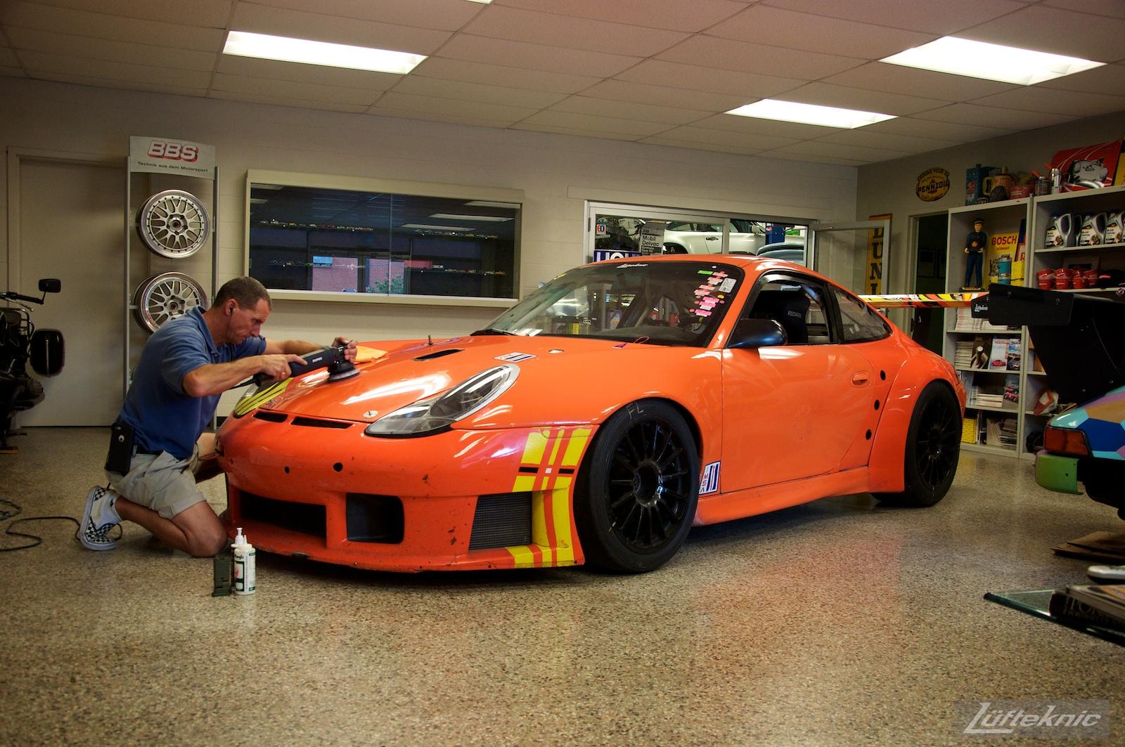 ZIP Racing Hazardous Sports Porsche 996 GT3 RS paint restoration