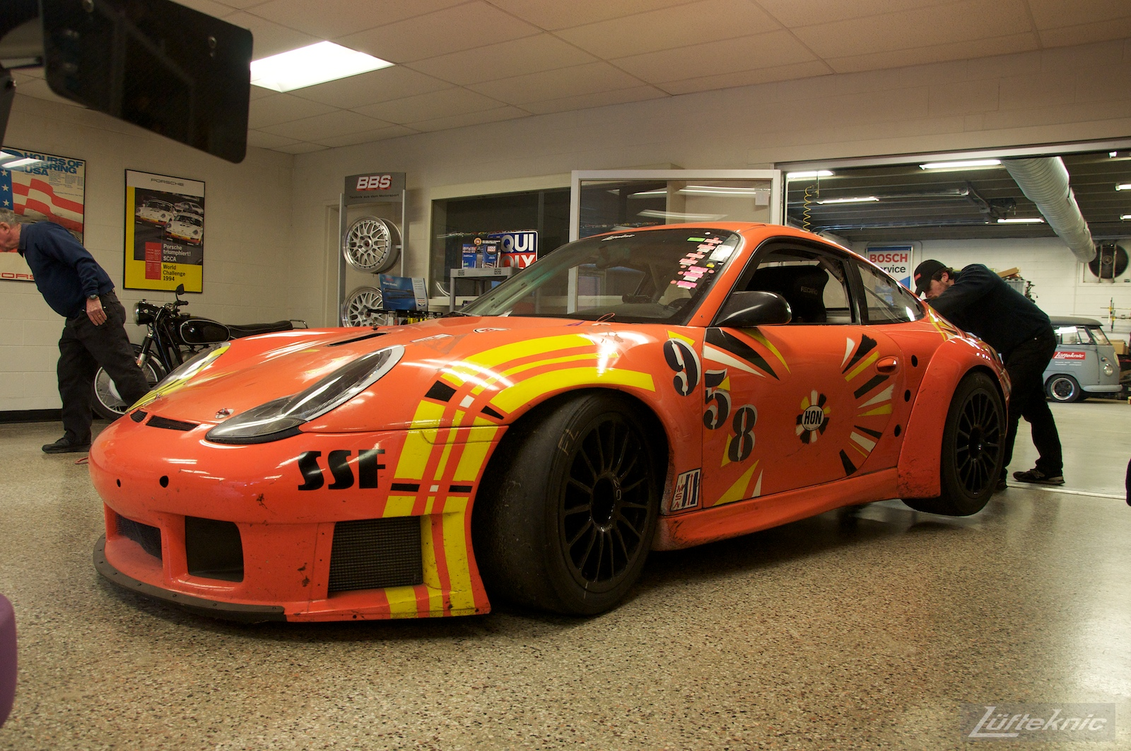 ZIP Racing Hazardous Sports Porsche 996 GT3 RS art car