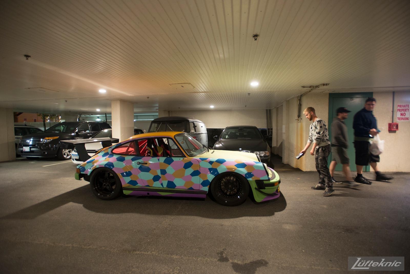 An impromptu 3am photo shoot for the Lüfteknic #projectstuka Porsche 930 Turbo