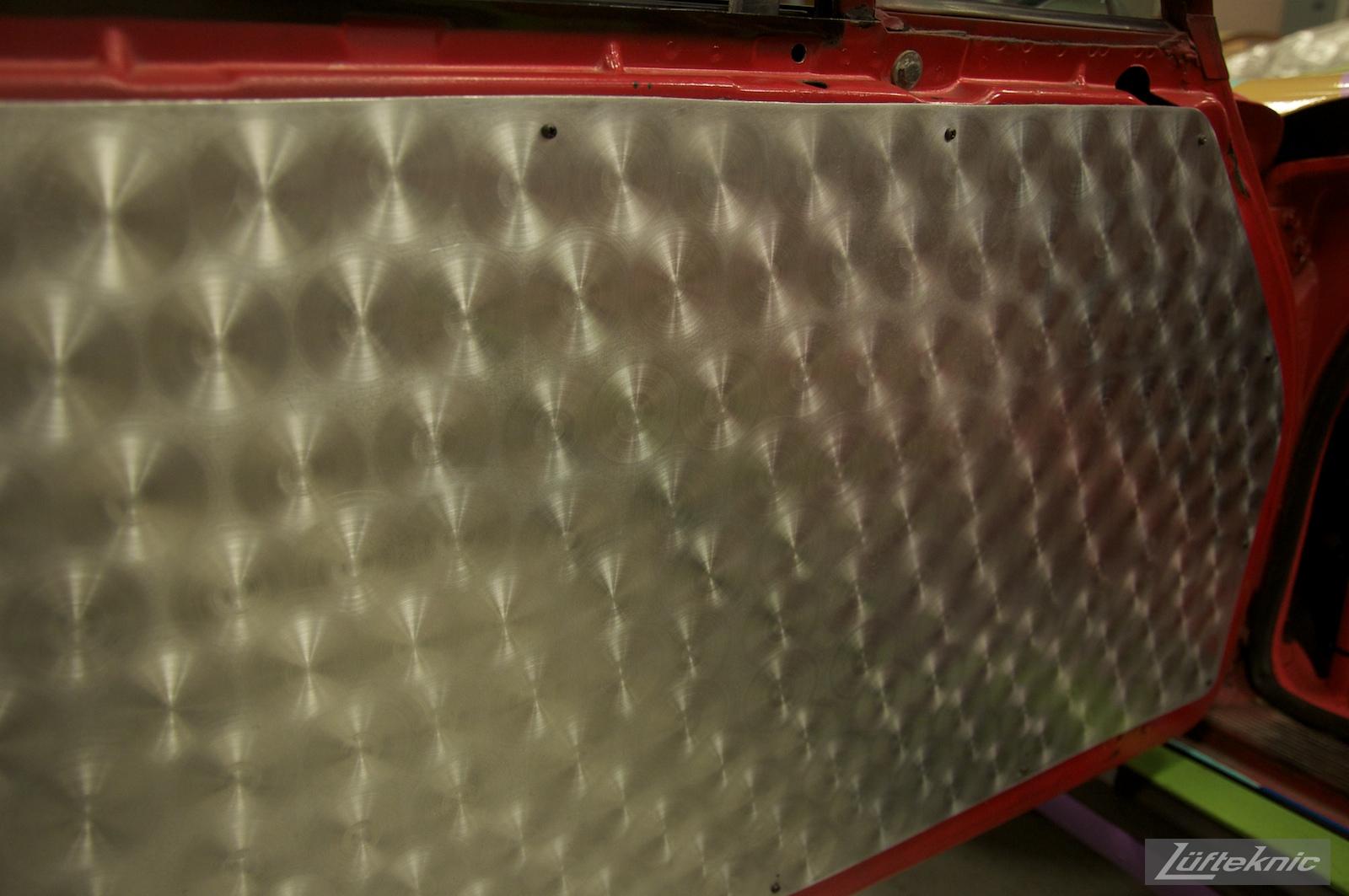 Custom stainless steel door panels on the Lüfteknic #projectstuka Porsche 930 Turbo