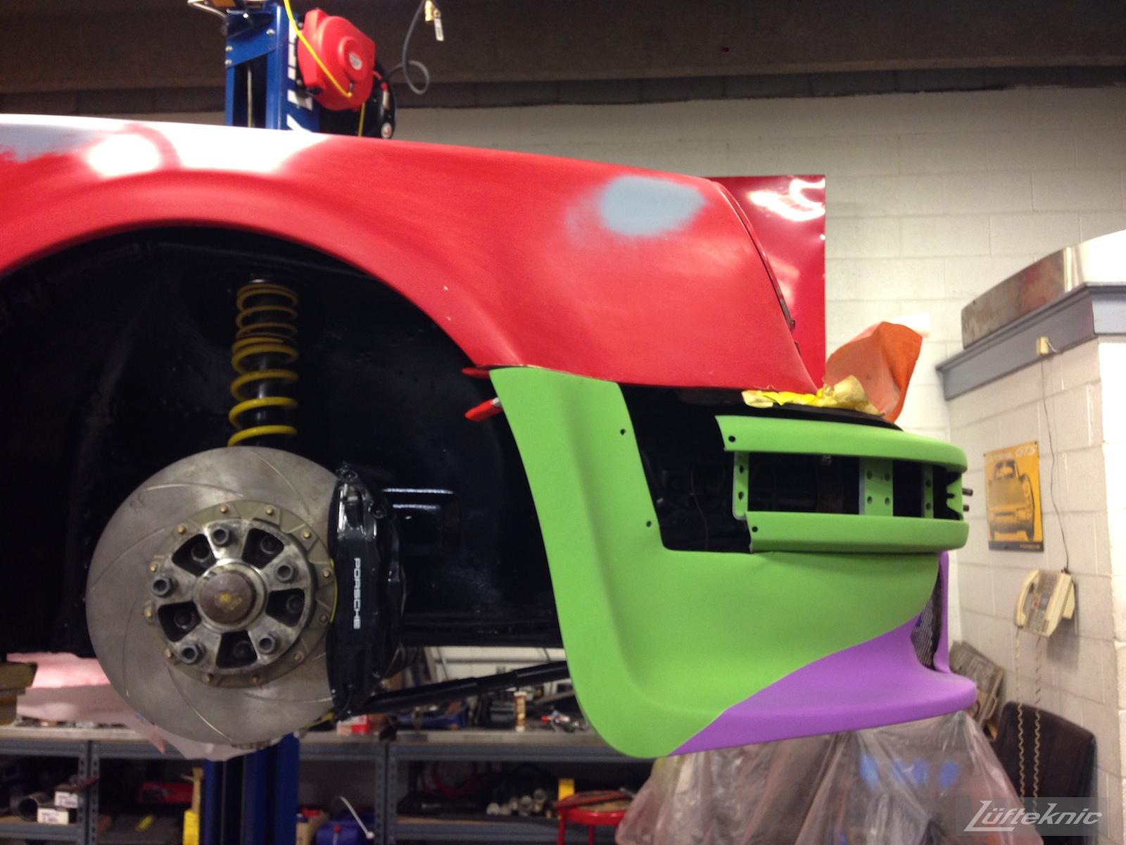 Lüfteknic #projectstuka Porsche 930 Turbo bumper trial fitment