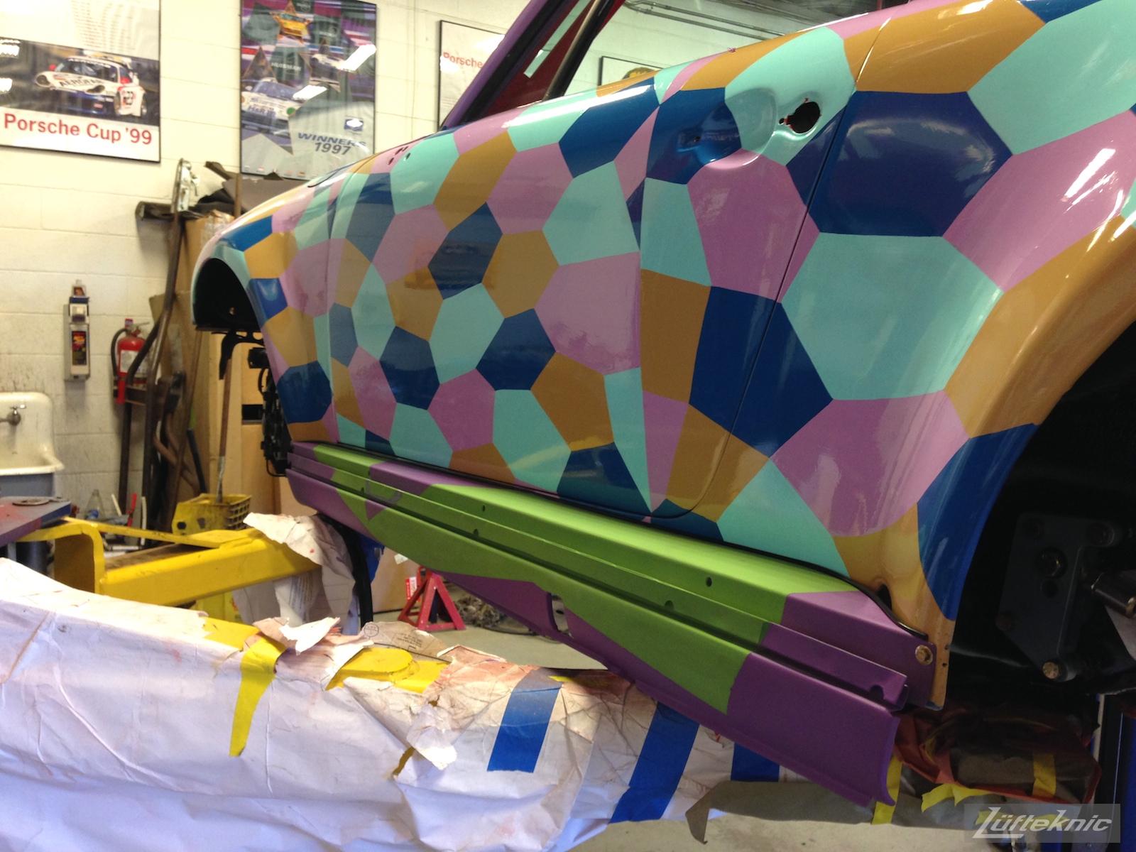 Lüfteknic #projectstuka Porsche 930 Turbo with 930S Turbo rocker panel fitted on driver's side
