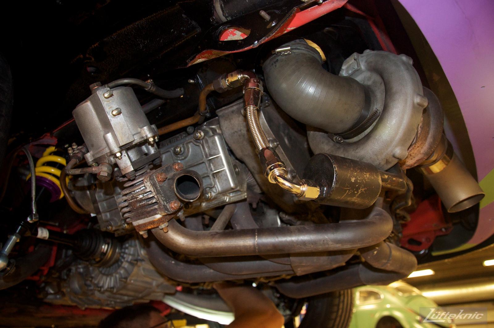 Lüfteknic #projectstuka Porsche 930 Turbo engine, wastegate and exhaust.