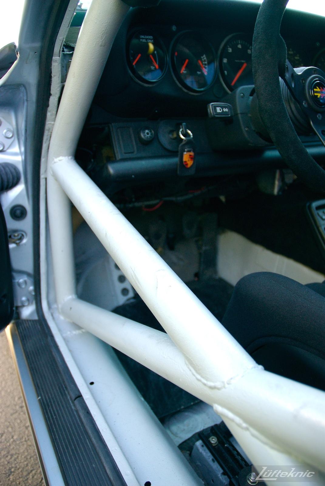 Track prepped Porsche 964 RS America roll cage.