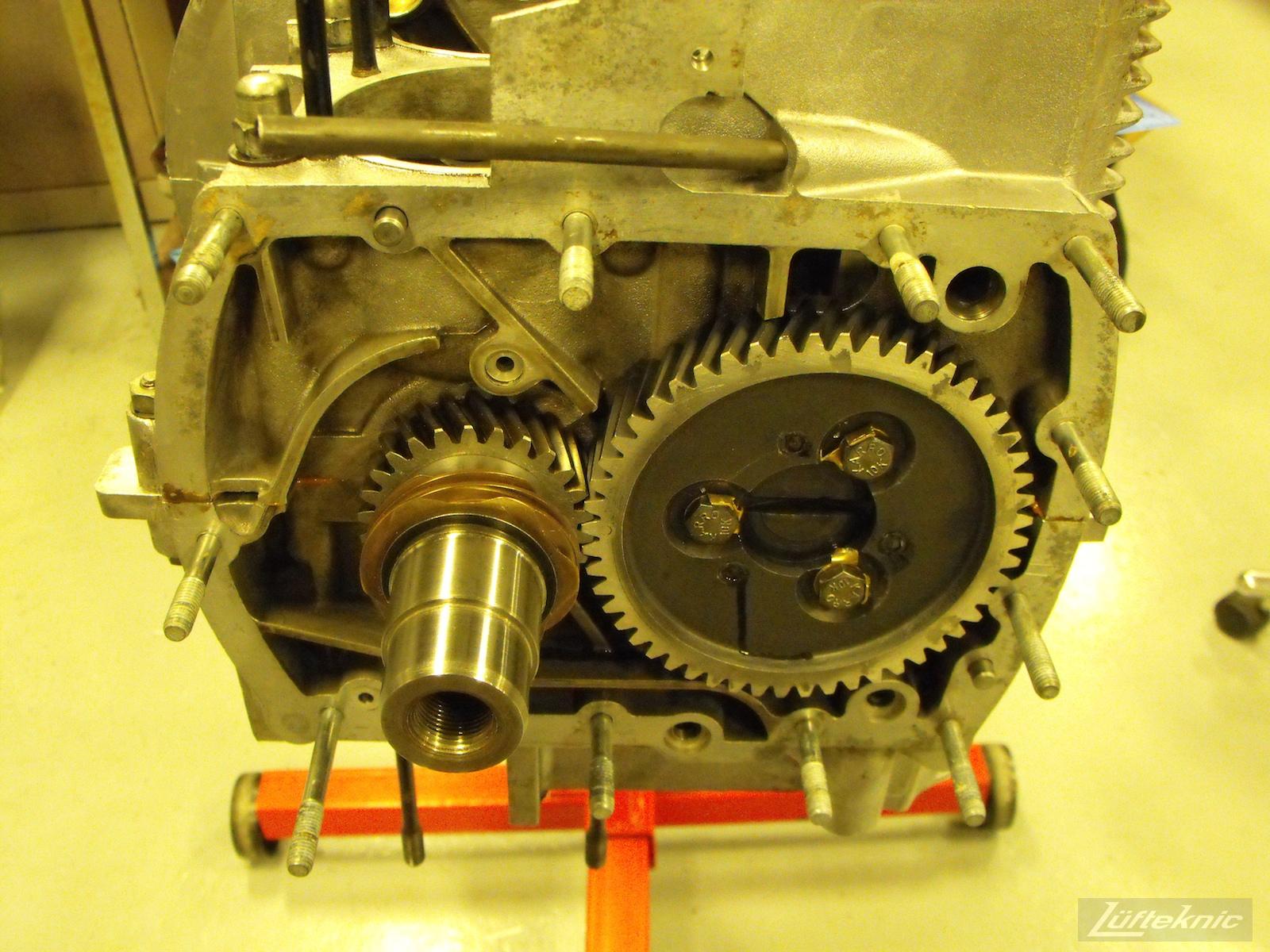 Engine assembly for a 1961 Porsche 356B Roadster restoration.