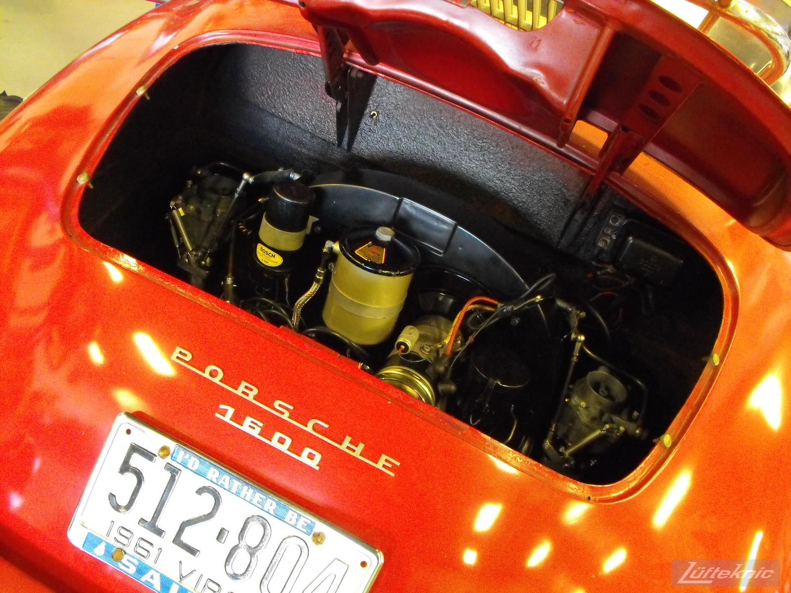 Engine installed in a 1961 Porsche 356B Roadster restoration.